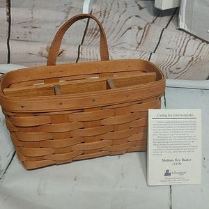Longaberger 1992 Medium Key Basket